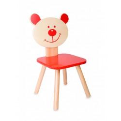 Детско дървено столче - мече