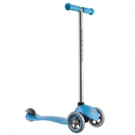 Тротинетка за деца с фиксирана височина - синя с кормило цвят металик