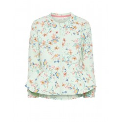 NAME IT Mini Floral Printed Cotton Green